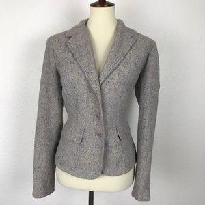 Dkny City Tweed Wool Blend Lined Blazer JKT248
